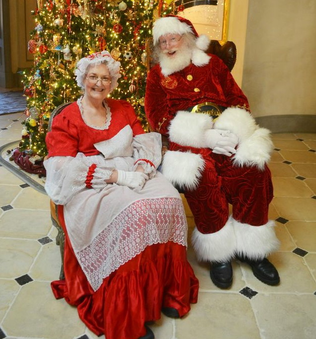 Recruit friends or family to play Mr. and Mrs. Clause